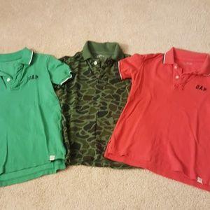 3 GAP boys polo shirts